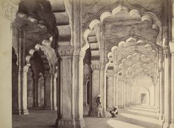 Interior of the Motee Musjid, Agra.